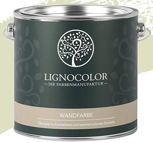 Lignocolor Wandfarbe Innenfarbe Deckenfarbe Kreidefarbe edelmatt 2,5 L (Green Tea)