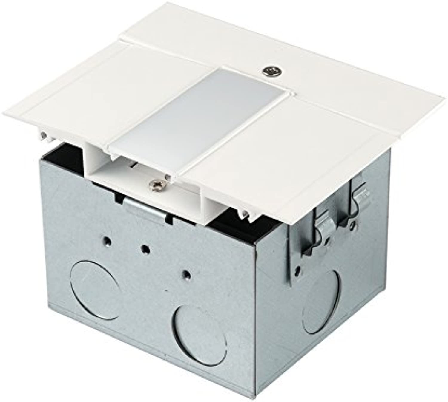 WAC Lighting LED-T-RBOX1-WT InvisiLED Power Feed for Symmetrical Recessed Channel with Junction Box, White