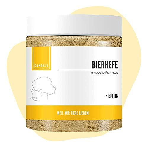 Canobel reines Bierhefe-Pulver für Hunde, Katzen & Perde 350g I Gesunde Haut, glänzendes Fell, Appetitanregend I Beliebter Barf Zusatz reich an B Vitaminen, Mineralien & Spurenelemente