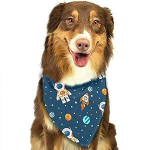 MODREACH Dog Bandana Space Astronauts Planets Rockets Pet Scarf Triangle Bibs Kerchief Set Pet Costume Accessories Decoration for Small Medium Large Dogs Cats Pets