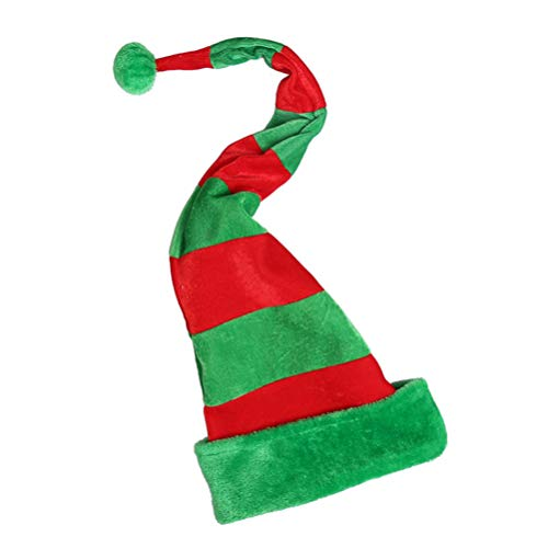 NUOBESTY gorro de elfo de Navidad, creativo sombrero largo de felpa para fiesta de disfraces de elfo