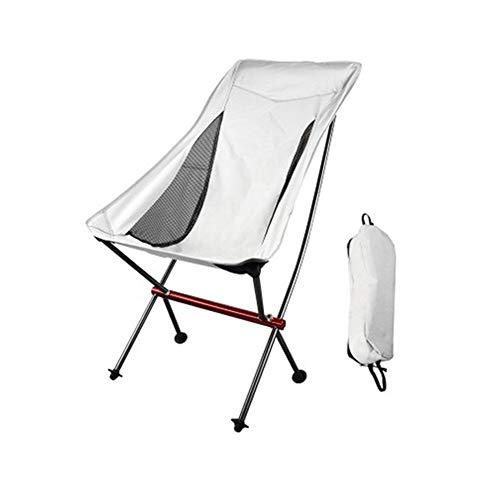 Escalada al aire libre acampa de la pesca portátil plegable Portátil ultraligero plegable camping al aire libre Silla plegable de picnic respaldo del asiento plegable de aluminio de aleación de heces