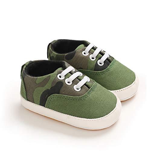 DEBAIJIA Baby Schoenen Canvas Schoenen 12-18 M Kinderen Sneakers Jongens Licht Linnen Schoenen Meisjes Zachte Zool 20 EU Groen (Label Maat 3)