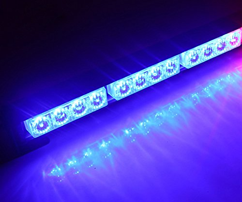 HEHEMM 12 LED 12W Emergency Warning Traffic Advisor Fahrzeug Strobe LED Light Bar