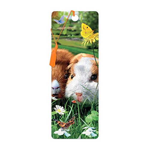 3D LiveLife Bookmark - Guinea Pigs from Deluxebase. A Guinea Pig Book Marker with lenticular 3D Artwork Licensed from Renowned Artist David Penfound