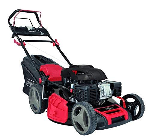 Scheppach MS225-53 Rasenmäher | 224 cm³ Benzin Motor | 53 cm Schnittbreite | Langlebiges GT Getriebe | Reinigungsfunktion | 65 Liter Fangkorb | Radantrieb | 6 in 1