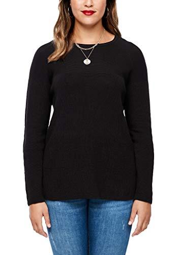 TRIANGLE Damen Pullover mit Fledermausärmeln Black 48