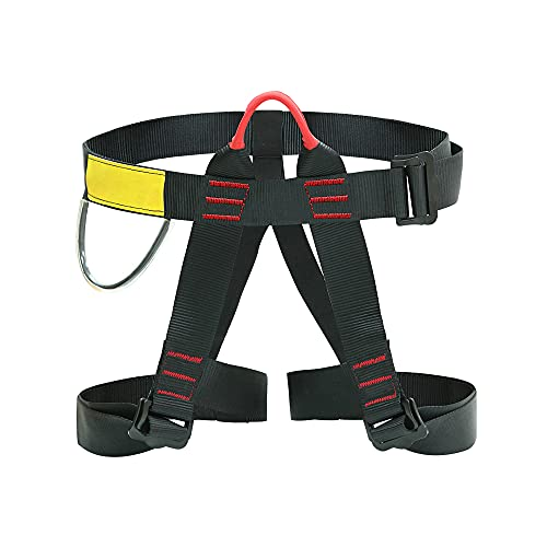 Furado Arnés de Escalada, Cinturones de Seguridad Equipo Escalada, Arnés de Escalada Proteger Pierna Cintura Más Seguro,Arnés de guía, para Montañismo Alpinismo Expedición Escalada en Roca