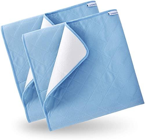 2 Stück Inkontinenzblätter Waschbare Bettpolster, Inkontinenzauflage - 86x132 cm Wasserdichter Matratzenschutz Urinbenetzungsmatte für Doppel-Einzelbett