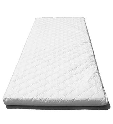 SUZY Microfibre Hypoallergenic Crib Mattress 89 x 38 x 4cm Thick (Square Corners) : Reversible
