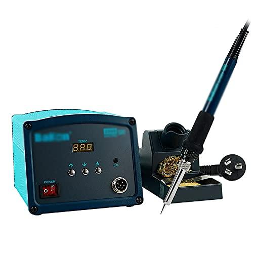 Estación de Soldadura Estación de soldadura de alta frecuencia Ajuste de temperatura inactivo inteligente y soldadura antiestática de hierro Tiene Muchos Usos ( Color : Azul , Size : 15x13x10.5cm )