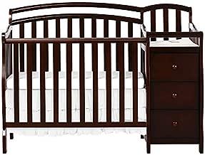 Dream On Me Casco 3-in-1 Mini Crib & Changing Table, Espresso