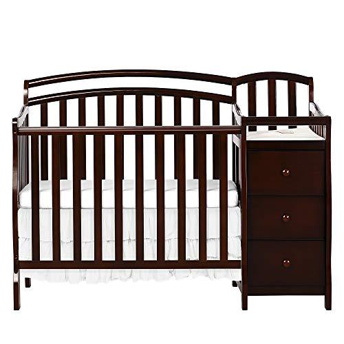 Dream On Me Casco 4 in 1 Mini Crib and Dressing Table Combo Espresso