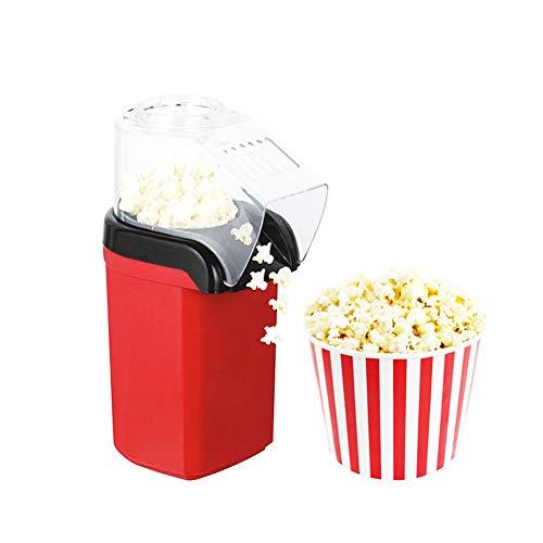 AZCSPFALB 1200W Popcorn Maker con Capa Antiadherente,Automática Máquina de Palomitas Aire Caliente,Sin Grasa,Seguridad y Salud,Máquina de Palomitas de Maíz Gourmet para Adultos y Niños(Rojo)