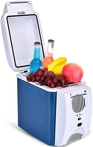 BD.Y Refrigerador de Coche portátil/Refrigerador doméstico pequeño de 12V / 220V / Refrigerador de Picnic portátil/Mini refrigerador de Doble Coche de 7.5L