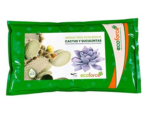 CULTIVERS Abono Especial Cactus Plantas Crasas y Suculentas de 1,5 Kg. Fertilizante Ecológico de liberación Lenta y controlada. Origen 100% Orgánico y Vegano