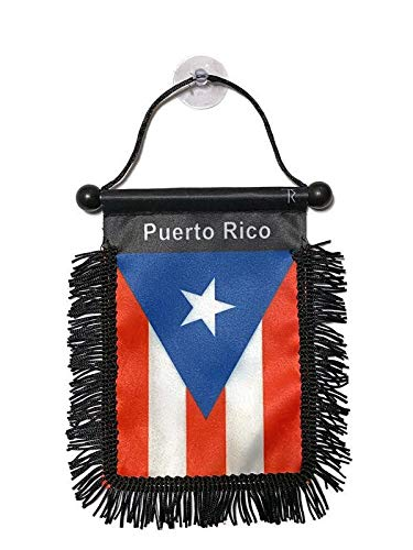 Tropically Rooted Puerto Rico Flag for Your Rear View Mirror   Puerto Rican Flag for Car