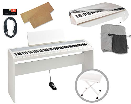 KORG コルグ / B2-WH ホワイトデジタル・ピアノ【純正スタンド、椅子、純正ダストカバー、クロスキーカバー、ステレオミニケーブル付】