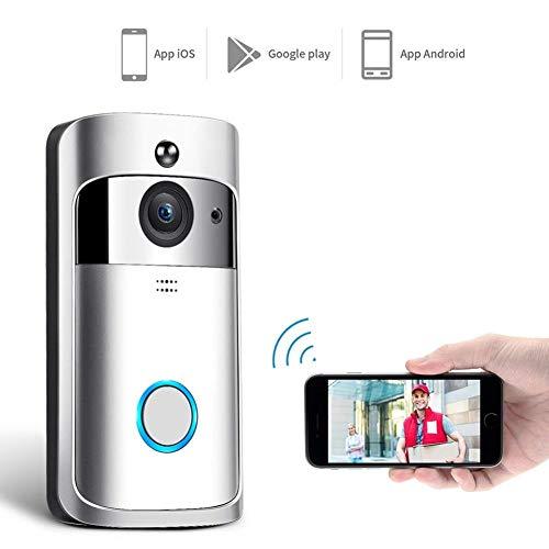 Draadloze ring video bel, huis intelligente deurbel camera 720P HD intercom huis wifi mobiele telefoon afstandsbediening Cat Eye nachtzicht infrarood