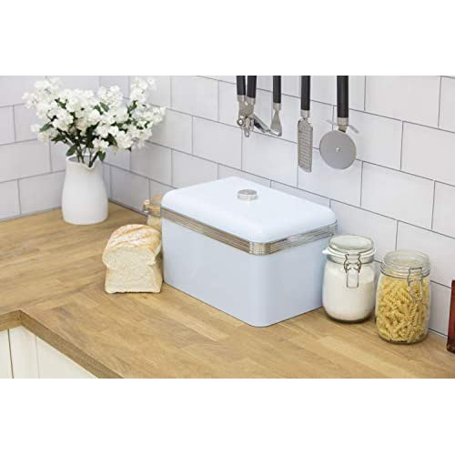 Swan Retro Bread Bin - Duck Egg Blue - 18 Litre Capacity