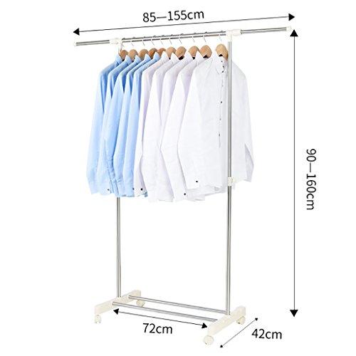 Edelstahl wäscheständer boden einpolige aufhänger indoor aufhänger balkon wäscheständer ( Farbe : B )