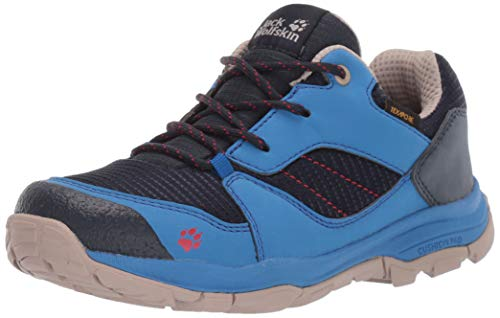 Jack Wolfskin Unisex-Kinder MTN Attack 3 XT Texapore Low K Trekking- & Wanderhalbschuhe, Blau (Dark Blue/Light Blue 1179), 35 EU
