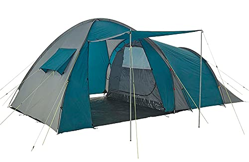 Onehertom 4/5 Person Camping Tent with Rooms, Family Size Tent with 2 Rooms Waterproof, Instant Cabin 4 Season Dome Blackout Tent, Double Layer, sreen Tent, Portable with Carry Bag, Casa De Campaña