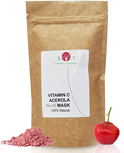 B.O.T cosmetic & wellness Mascarilla Antiedad Vitamina C con Acerola peel-off, 100% Natural - 200g