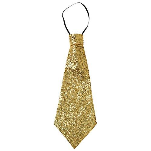 Widmann - Krawatten & Schärpen zum Verkleiden in Gold, Größe Einheitsgröße