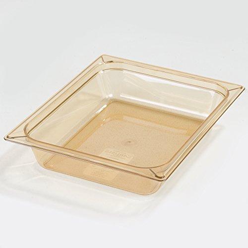 "Carlisle 10420B13 StorPlus Gastronorm High-Heat Half-Size Food Pan, 2.5 qt. Capacity, 12-3/4 x 10-3/8 x 2-1/2"", Amber (Case of 6)"