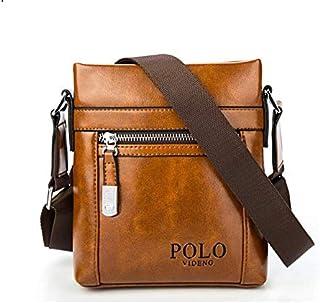 Videng Polo Bag For Men,Brown - Shoulder Bags