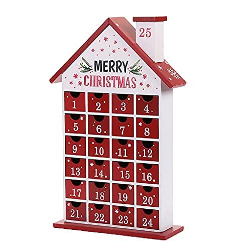 Kerst houten adventskalender Jezus met 24 laden voor kinderen, volwassenen, aftellen houten adventskalender