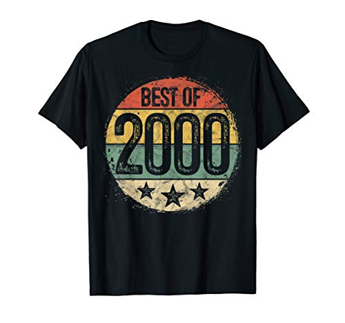 Circular Retro Best of 2000 20th Birthday Gift 20 Year Old T-Shirt