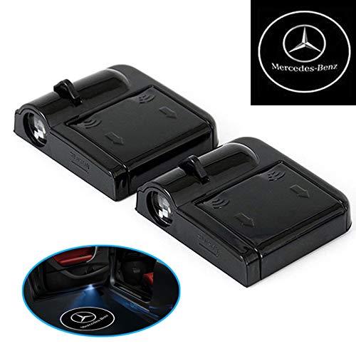 A60 2X Wireless Auto Tür Licht LED Willkommen Projector Logo für Mercedes Benz LED Farbe: Weiß