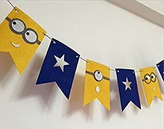 Alemon Despicable Me Minions Birthday Banner Pennant Party Decorating for Kids