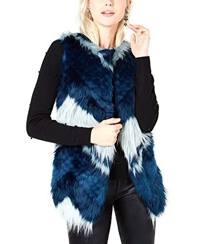 Bar III Faux-Fur Patchwork Vest, Patchwork XS