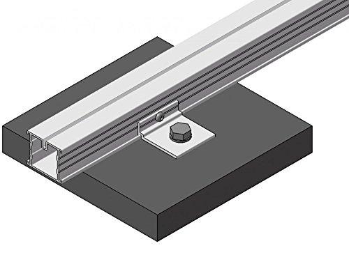 1 rail en aluminium 23 x 45 x 1950 mm pour sous construction Lames de Terrasses à partir de 7,99 €/LFM Aluminium Système fabriqué en Allemagne de jardin monde Verrou Berger Plattenträger 1 pièce