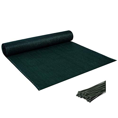 Laneetal Telo Ombreggiante Rete Oscurante Frangivista per Giardino Rotolo 1,2x20 m Verde Scuro