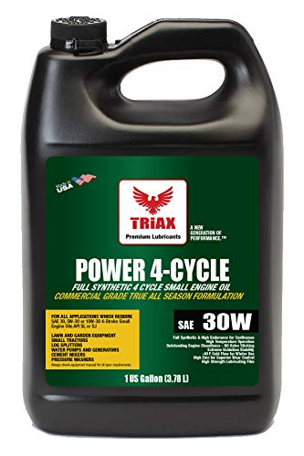 Triax Power 4T SAE 30 Full Synthetic - 4 Stroke Full Synthetic Small Engine Oil | Garden Tractors & Other Power Equipment (1 Gallon)