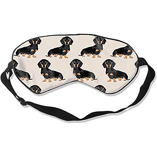 Sleep Eye Mask,Wiener Hund Stoff Doxie Dackel Weiner Hund Haustier Hunde Attraktive Bedruckte Augenbinden Für Schlaf Und Reisen