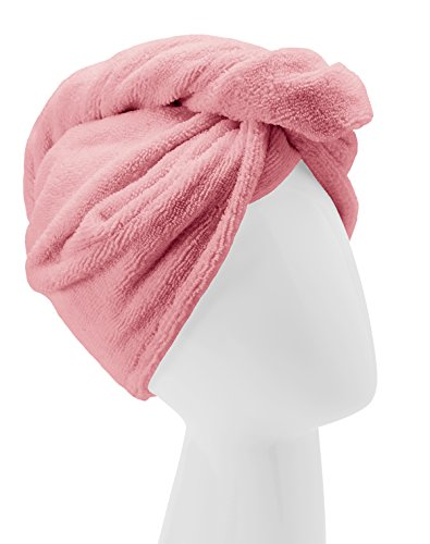 Turbie Twist Microfiber Hair Towel Wrap [Single Pack] – The Original Microfiber Hair Wrap As Seen On TV! Available in Pink, Blue, Purple and Aqua Hair Turban Towel Wraps (Pink)