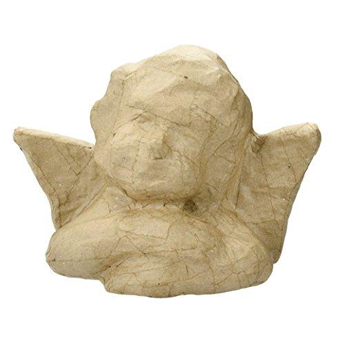 EFCO–PappArt Engel–Brustumfang, Pappmaché, Braun, 20x 9,5x 16,5cm