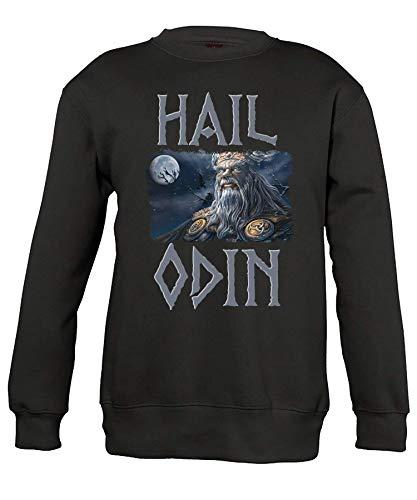 Quattro Formatee Hail Odin Vikingo Viking Valhalla Odin Thor Nordmann Wolf - Camiseta y jersey Sudadera para niños. 152 cm