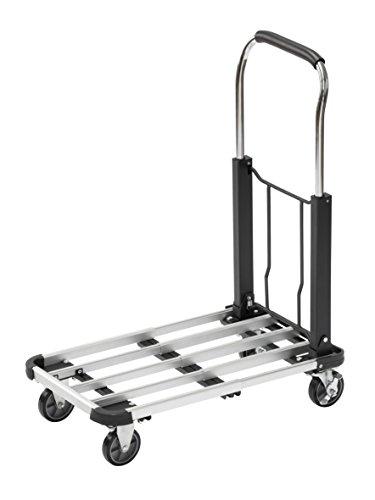 Meister Transportwagen - Klappbar - Bis 150 kg Tragkraft - Feststellbremse - Höhenverstellbarer Griff / Transporthilfe mit Lenkrollen / Paketwagen / Klappwagen aus Aluminium / 8985590