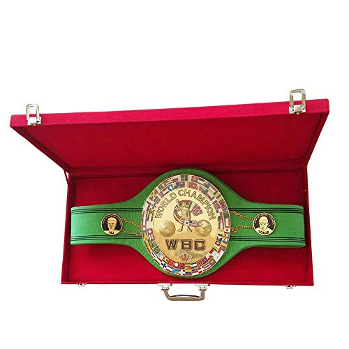 WBC Jeff Championship Boxing Belt 3D Center Plate Genuine Leather Adult with Box