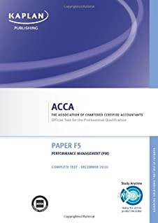 F5 Performance Management PM - Complete Text: Paper F5