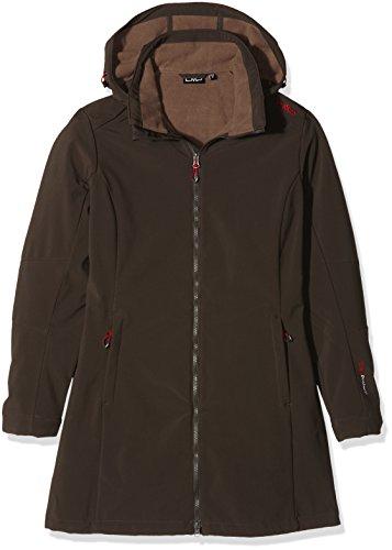 CMP Damen Softshellmantel Zip Hood, arabica/teak, 44, 3A08326
