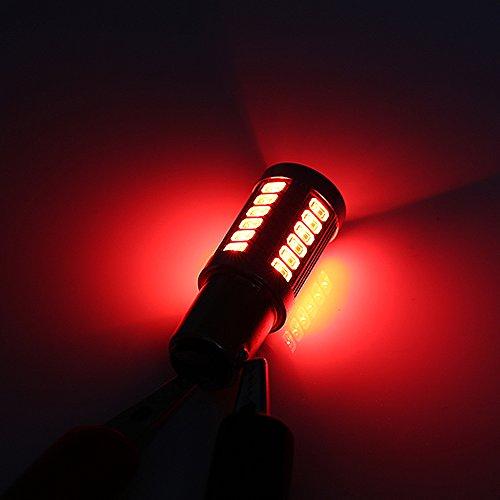 2x P21/5W LED Luz de Coche BAY15D Bombilla 1157 Tail Signal Freno Stop Reverse DRL Luz 5W 12V 3014 33 LED SMD Rojo