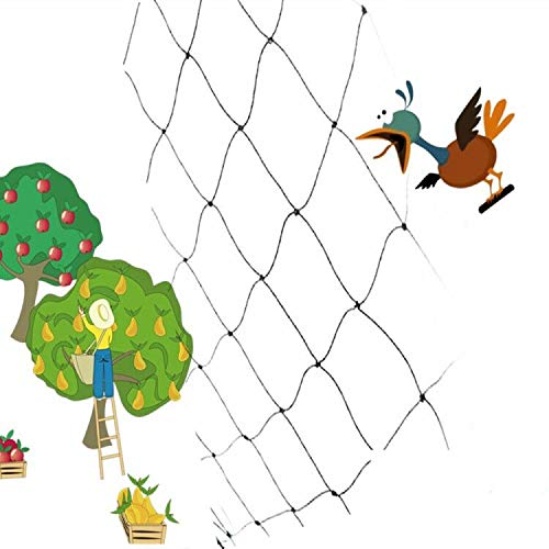 Mr.Ton Bird Netting 50 X 50 ft, Heavy Duty Garden Netting Barrier Fence Protect Trees, Poultry, Plants, Ponds, Keep The Hawks, Reusable
