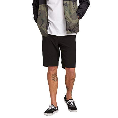 """Volcom Men's Frickin SNT Static 21"""" Modern Hybrid Short, BLACK OUT, 34"""